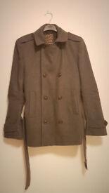 Men's grey 70% wool winter jacket size M