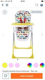 Cosatto Noodle Supa Highchair - Rev Up, EXCELLENT CONDITION, USED ONLY FEW TIMES