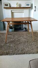 Ercol blonde plank kitchen table model 393