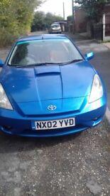 Blue Toyota Celica