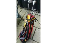 Set of Golf clubs and bag FOR SALE Includes Taylormade and Cobra