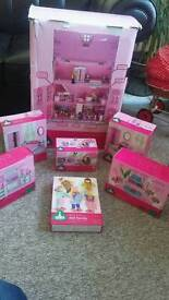 ELC rose bud house plus 6 boxes furniture people bargain