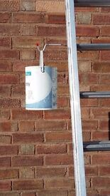 """""""Ladder Handy"""" for your added support of items when using extension ladders"""