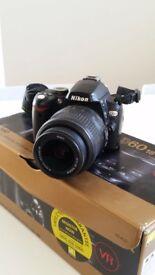 Nikon D60 Digital SLR camera with 18-55mm lens - £120