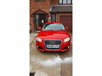Audi A3 Sportback 2009 Red Diesel 2 Keys MOT 5 Door Hatchback in Barnsley