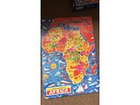 4 x Jigsaw Map Picture Puzzles of the World