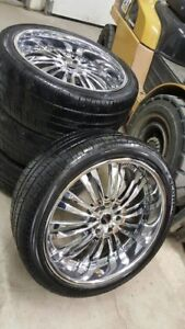 "24"" MHT Rims with Tires"