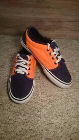 Orange and Black Vans UK Size 3