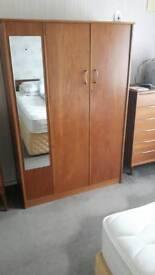 SOLD : Hardwood wardrobe