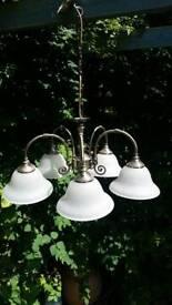 5 arm vintage style ceiling light