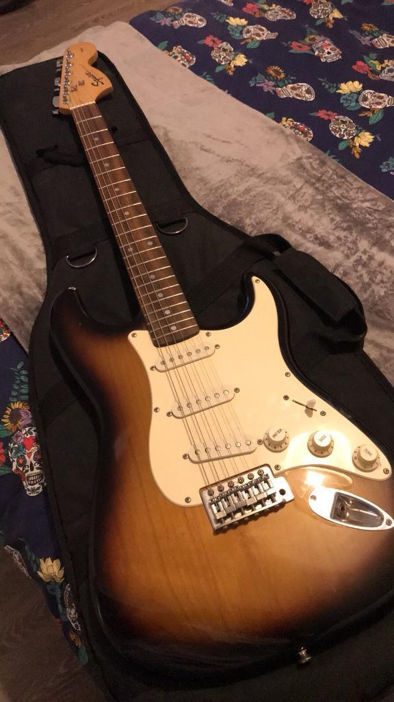 Fender Squire Strat Electric Guitar & Carry Case