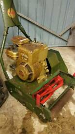 Vintage Webb AB1473 14 Inch (35cm) Motor Lawn Mower and Grass Box