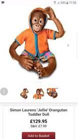 """Ashton Drake Real Life Monkey """"Jollie"""""""