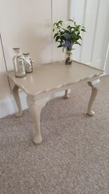 Coffee table on cabriole legs hand painted in Annie Sloan chalk paint