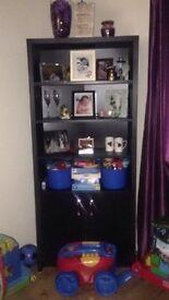 Large black display cabinet