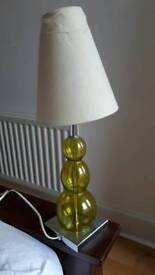 Glass lamp base. 1960s style
