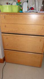 Chest of drawers Cabinets Oak Vaneer Holtkamp