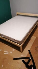 *Almost* new double IKEA bed (only slept in once)