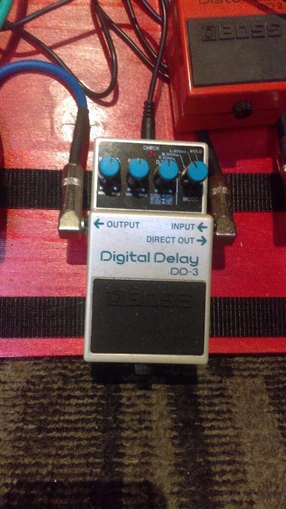Boss dd3 delay pedal