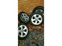 Bmw genuine 16'' alloy wheels with tyres 205/55 R16