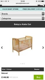 Katie cot with or without mattress