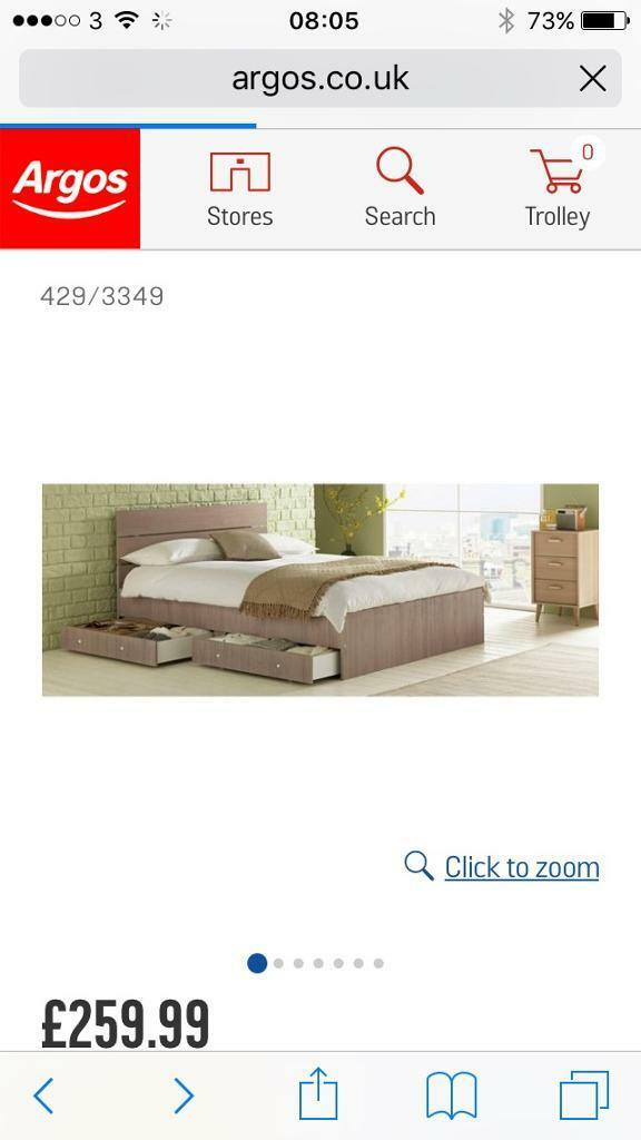 King size wooden frame and mattress