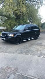 "RANGE ROVER SPORT 2.7 TDV6 HSE 22"" KHANS !! FULL BLACK LEATHER !! LOW TAX !! PX SWAP"