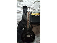 Ibanez Gax30 Black Knight electric guitar and bundle