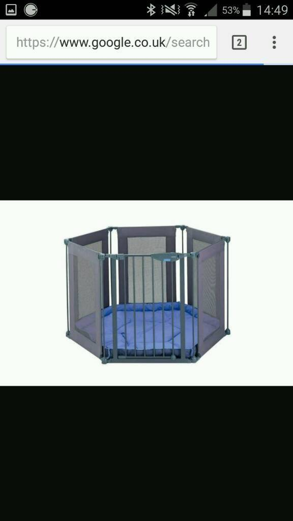 Lindam play pen room divider with cushioned floor