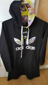 NEW ADIDAS TRACKSUIT LONG TOP LIKE DRESS WITH POCKETS AGE ABOUT 13