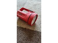 Hand torch (vintage style) Postbox Red 6v Battery