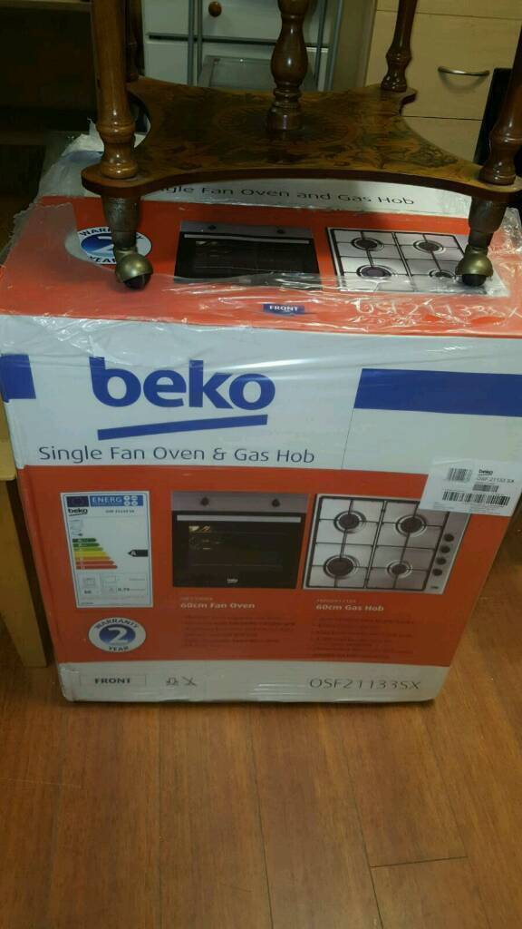 *brand new* beko stainless steel oven and gas hob