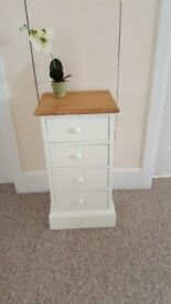Solid pine narrow 4 drawer/bedside table (no ply) and I only have one