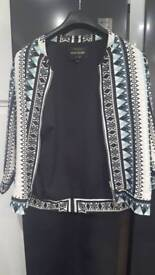 Stylish mosaic pattern jacket. River island
