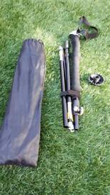 Fold up hiking stick with carry case new