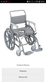 Trans Aqua stainless steel shower and toileting wheelchair very good condition £150