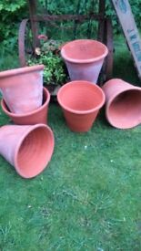 vintage good size terracotta plant pots for your new season of gardens