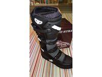wulfsport motocross motox quad enduro boots in black euro 45