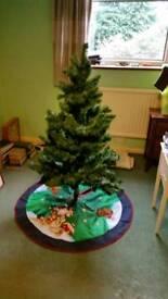 Christmas tree, storage bag and decorative mat