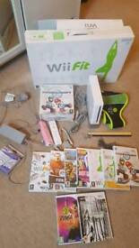 Nintendo Wii with WII Fit, Games and accessories