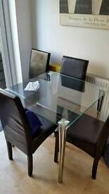 Glass kitchen table only