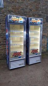 single door pepsi max fridge 2x available