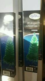 22 x 4ft Angel christmas trees and 4 black 5.5ft trees new in boxes