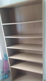 Oak Veneer Book Case