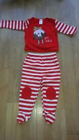 'Little Pudding' Christmas outfit age 12-18 months