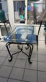 Glass top table in great condition wow look