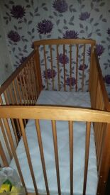 Cot and matrest for sale