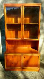 Retro 70's Teak Lounge Display Unit with built-in lighting