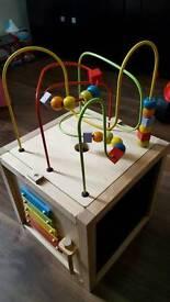Wooden Activity Cube