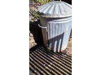 metal bin light weight used for garden planter or logs etc.